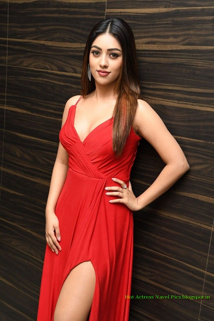 Anu Emmanuel hot thighs show in open gown at oxygen audio function