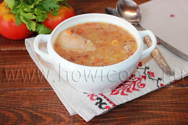 рецепт гречневого супа с курицей