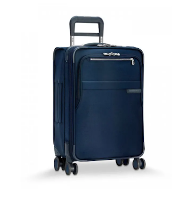 You only have to enter once for the chance to win this gorgeous expandable carry on luggage from none other than Briggs & Riley worth nearly $700!