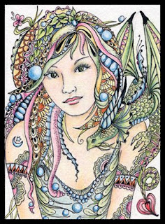 Fairy Tangles New Aceo Fairy Quot Tangle Quot Amp Her Dragon Friend