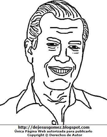 Dibujo de Mario Vargas LLosa para colorear, pintar e imprimir. Dibujo de Mario Vargas LLosa hecho por Jesus Gómez