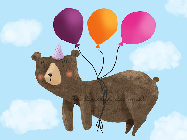 Party Bear - speed painting -