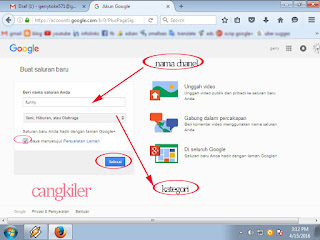 Tutorial Membuat Chanel Youtube