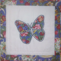 butterfly appliqué and embroiderly