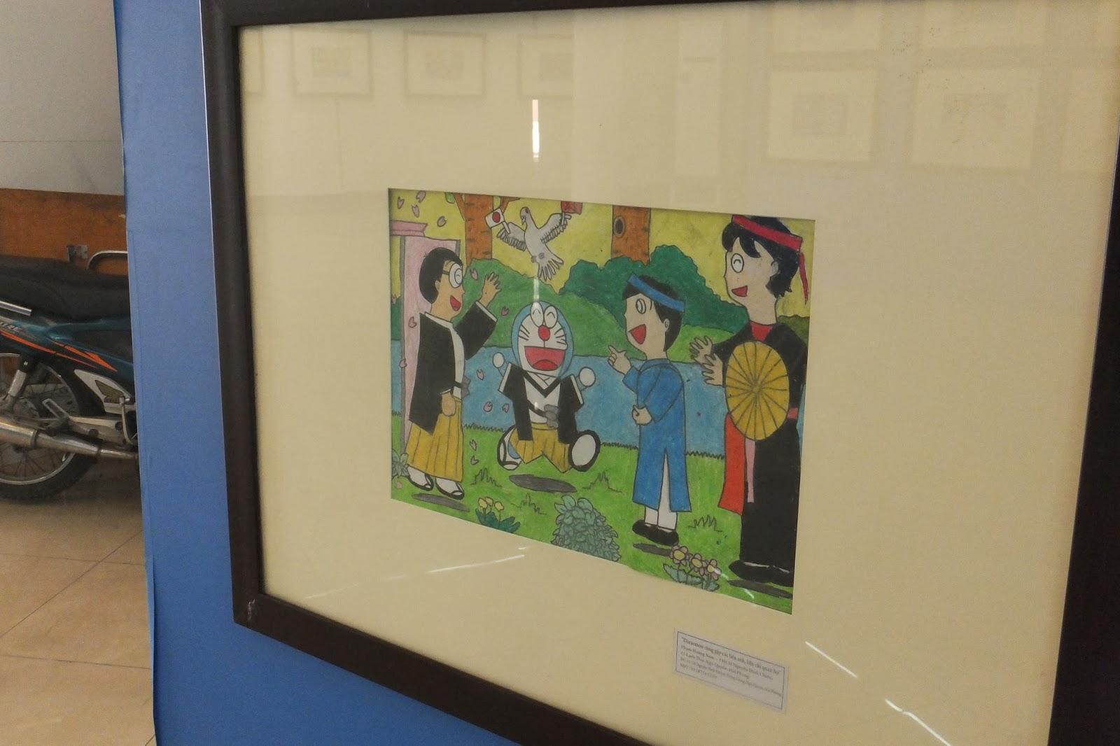 doraemon-exhibition-hanoi ドラえもんお絵描き展4