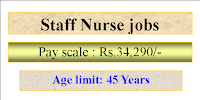 Staff Nurse jobs- Selection will be based on Interview