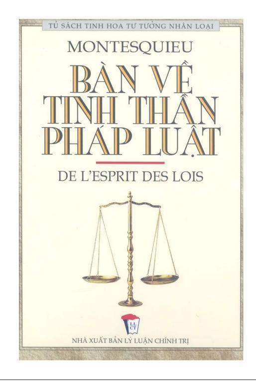 Montesquieu - Bàn về tinh thần pháp luật (Download)