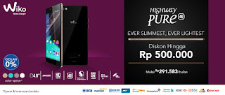 Wiko Highway Pure 4G Android smartphone promo