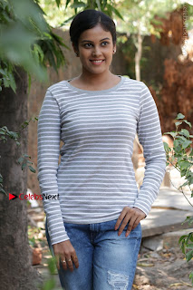 Tamil Actress Chandini Tamilarasan Latest Pos in Ripped Jeansat Ennodu Vilayadu Press Meet  0031.jpg