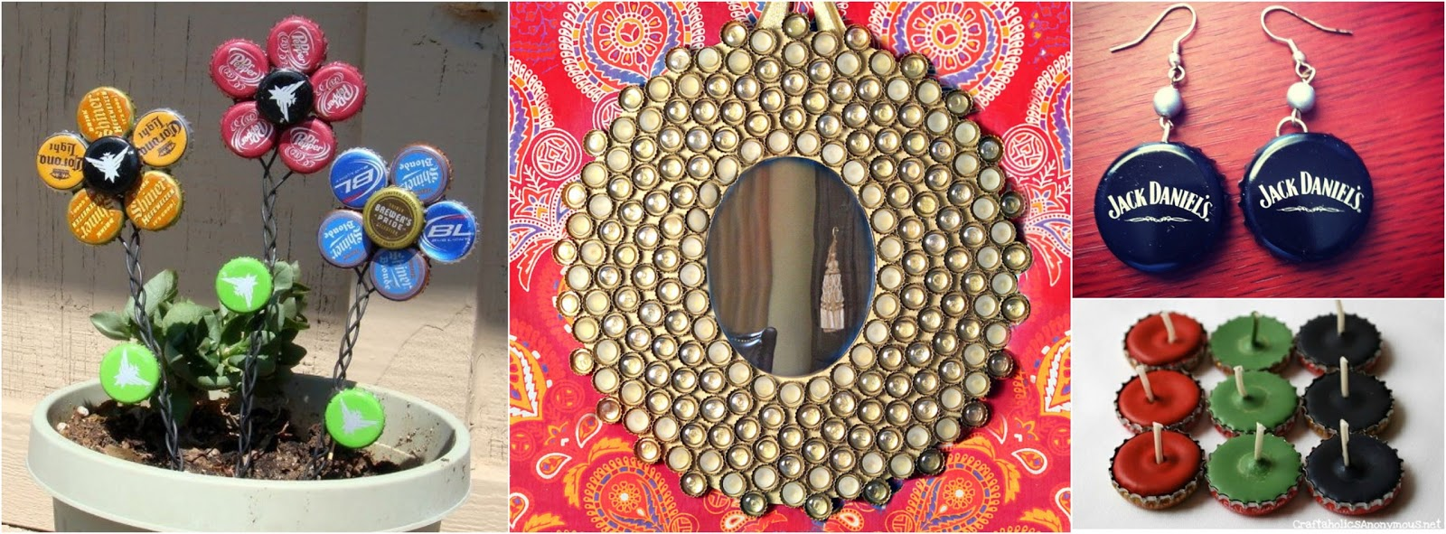 9 manualidades para reciclar corcholatas de botellas en - Manualidades de casa ...