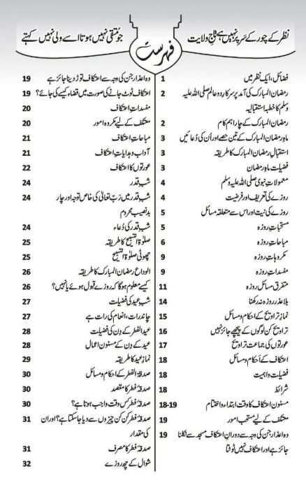 Ramadan Mubarak Books Urdu