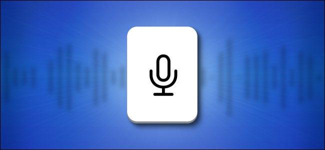 زر لوحة مفاتيح ميكروفون iPhone و iPad على خلفية زرقاء