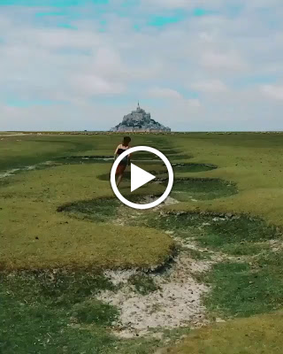Never run away 🗺 🙏🏽 Video by @yvonnepferrer at Mont Saint-Michel, #France.