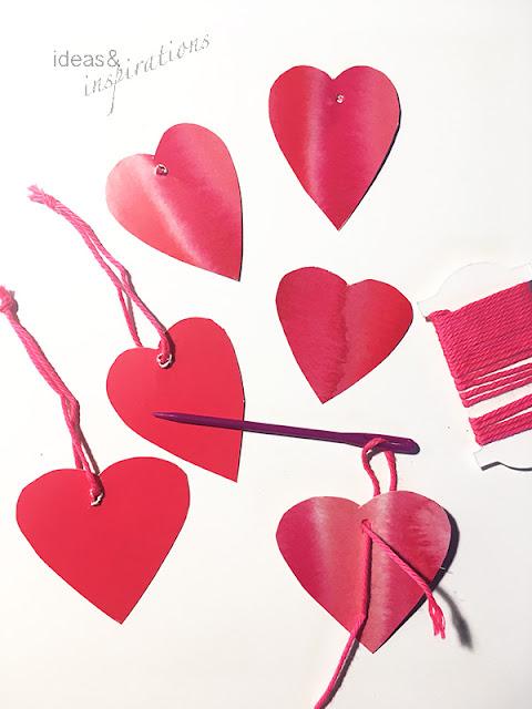 Herz Girlande selber basteln