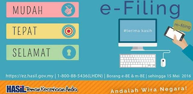 Tarikh Akhir e-Filling 2018 Borang Hantar Cukai Pendapatan