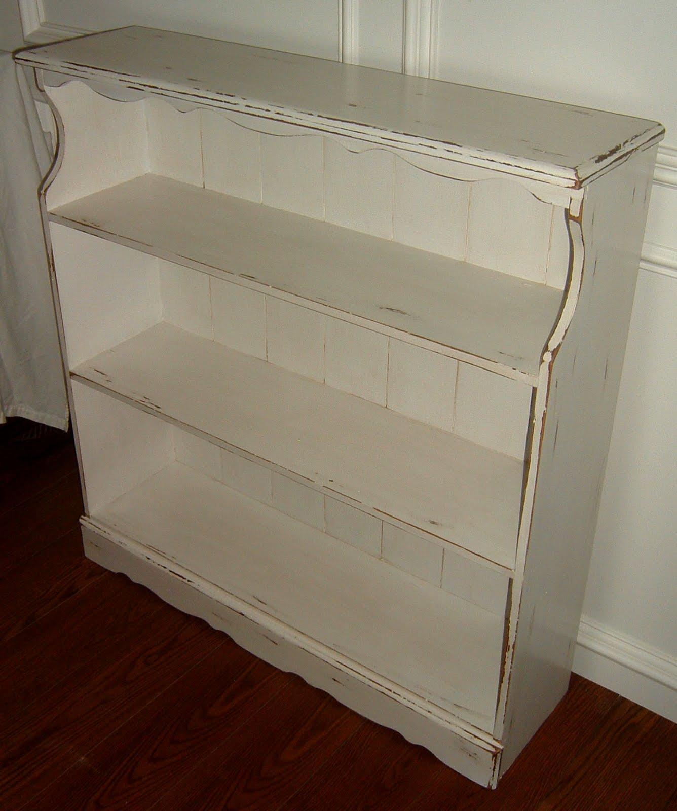 distressed white bookshelf - Distressed Bookshelves