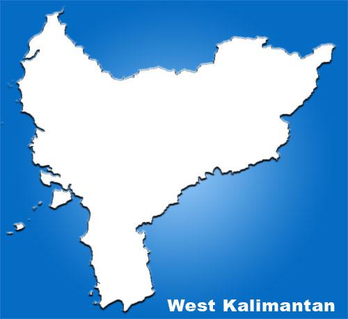 image: West Kalimantan blank map
