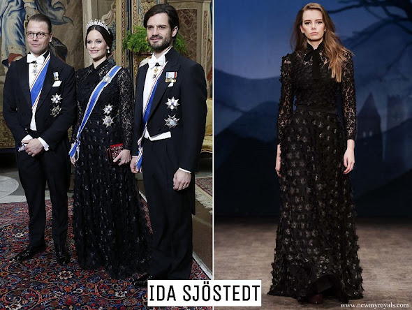 Princess Sofia wore a gown from AW07 collection of Ida Sjöstedt