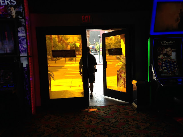 El Cortez Las Vegas yellow exit door