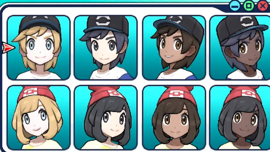 You Can Choose A Black Pokemon Trainer In Pokmon Sun And Moon