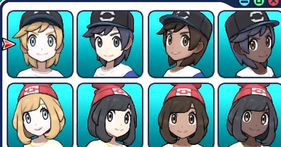 You Can Choose A Black Pokemon Trainer In Pokémon Sun And Moon - Hair colour pokemon x