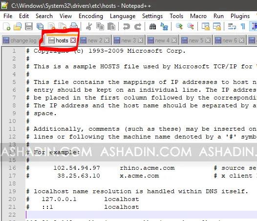 Agar File Hosts Bisa di Edit
