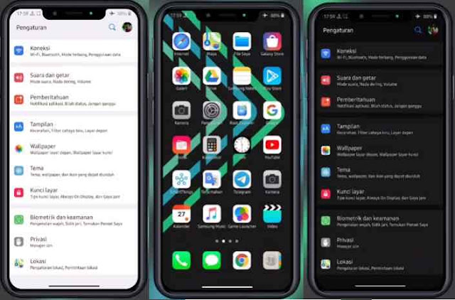 Download Tema iPhone/ iOS 13 Untuk Samsung Galxy Android 9/ 10