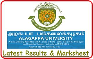Alagappa University Results Nov Dec 2018