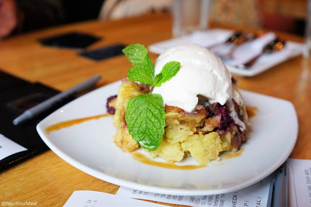 Blackberry Bread Pudding at Tip Tap Room in Boston