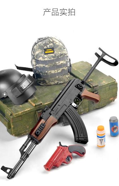 Súng bắn đạn thạch AKS báng gấp