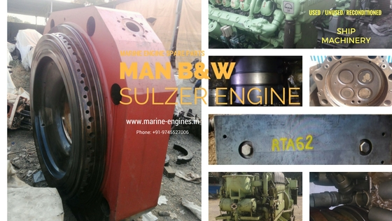 used, marine, engine, sulzer, MAN B&W, ship machinery, spare parts, recondition, reusable, India, recycle, 50MC, 70MC, 45MC, RTA