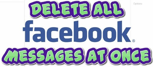 how to delete all facebook messages at once on pc