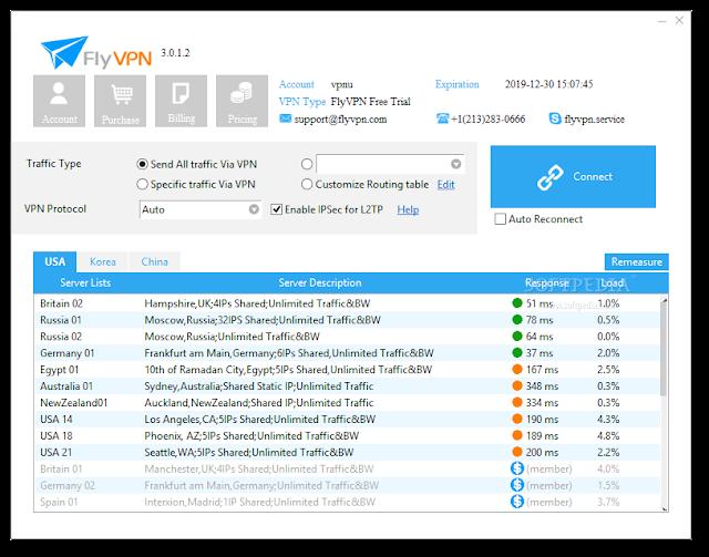 تحميل اقوى برامج في بي ان لفتح المواقع المحجوبة FlyVPN 3.3.0.10