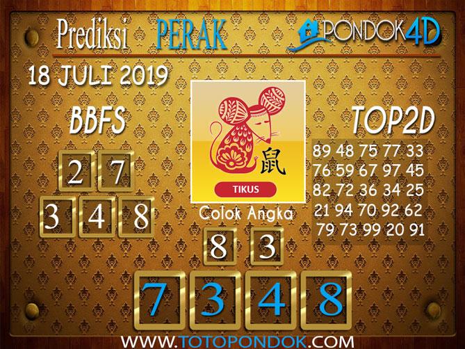 Prediksi Togel PERAK PONDOK4D 18 JULI 2019