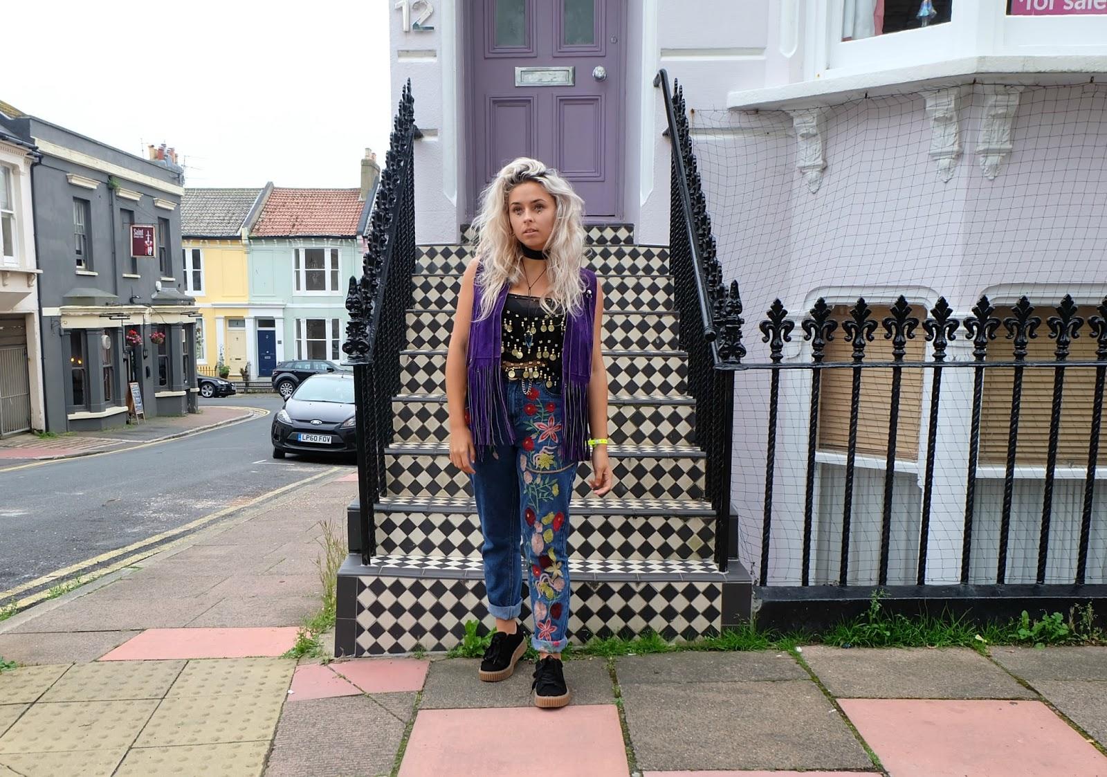 UK Fashion Blogger wearing Rokit.co.uk