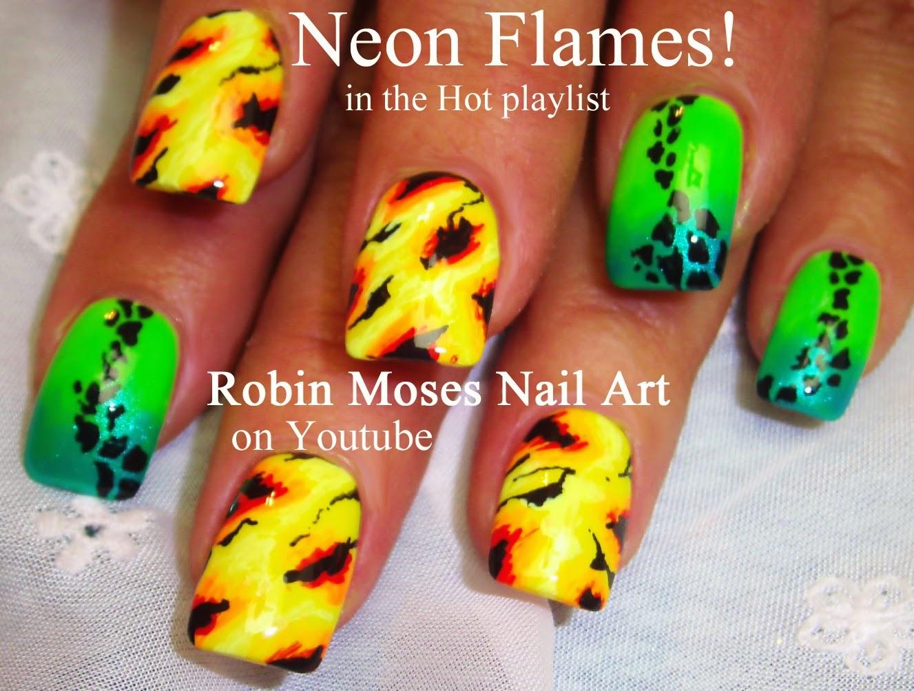 """Robin Moses Nail Art: """"summer nails"""" """"neon nails"""" """"neon ..."""