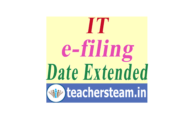 e-filing Income tax return last date extended