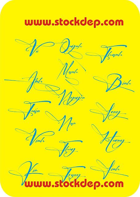 Download fonts chữ ký cực đẹp