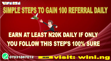 TOP SECRET WAY OF GETTING REFERRALS AND START MAKING MILLIONS ON WINI.NG