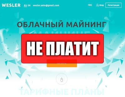 Скриншоты выплат с хайпа wesler.biz