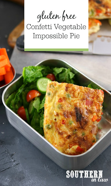 Confetti Vegetable Impossible Pie Recipe - gluten free, healthy, clean eating, high protein