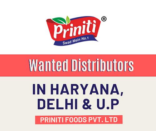 Wanted Distributors for Food Products ( Potato Chips, Namkeen, Bhujia ) in Haryana & Delhi NCR