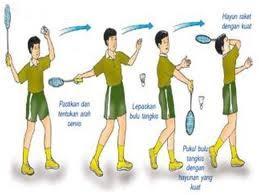 Gambar teknik dasar servis pendek forehand