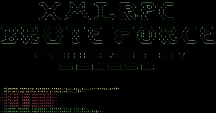 XMLRPC : An Brute Forcer Targeting WordPress Written In Python 3