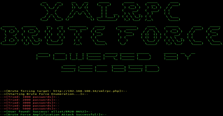 XMLRPC : An Brute Forcer Targeting WordPress Written In Python 3