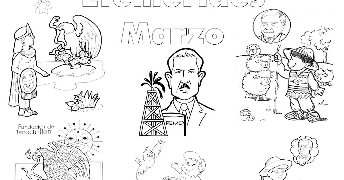 Pinto Dibujos: Efemerides Marzo Colorear