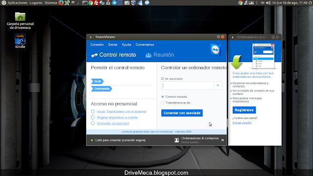 DriveMeca instalando Teamviewer en Linux