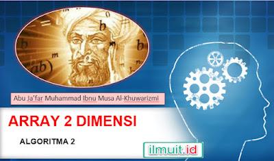 Algoritma 2 : Array Dua Dimensi Beserta Contoh Program Pascal