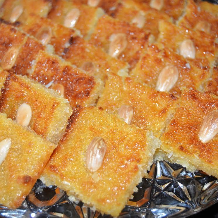 Gluten Free/Dairy Free Nammoura-A Traditional Lebanese Dessert