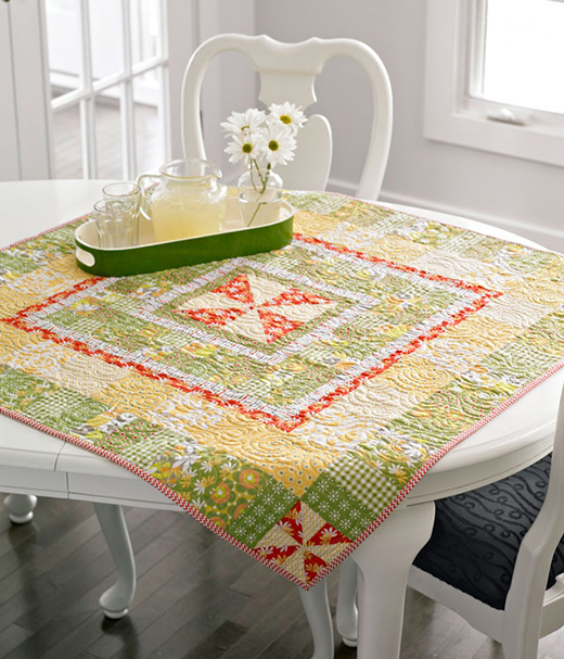 Sunny All Around Table Runner designed by Chloe Anderson and Colleen Reale for All People Quilt